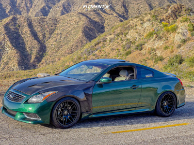 2008 Infiniti G37 - 19x9.5 22mm - Forgestar F14 - Coilovers - 245/40R19
