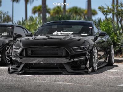 2015 Ford Mustang - 19x9.5 20mm - Weds Kranze Vishunu - Air Suspension - 225/35R19