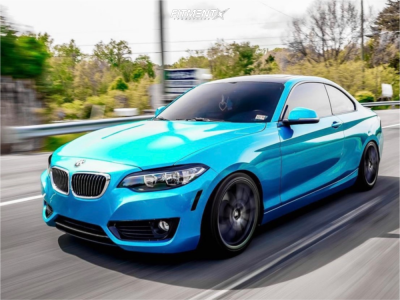 2015 BMW 228i - 18x8 35mm - BBS XA - Coilovers - 225/40R18