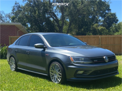 2016 Volkswagen Jetta - 18x8.5 35mm - Rotiform Blq - Stock Suspension - 225/45R18