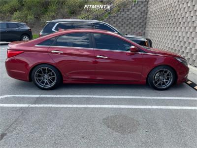 2011 Hyundai Sonata - 18x8.5 36mm - AVID1 Sl02 - Lowering Springs - 225/45R18