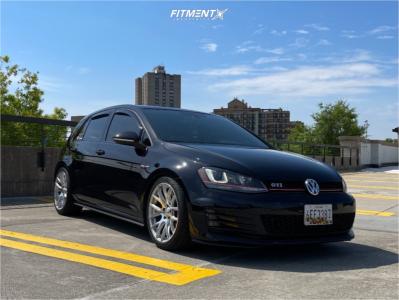 2016 Volkswagen GTI - 18x8.5 45mm - 3SDM 0.01 - Coilovers - 235/40R18