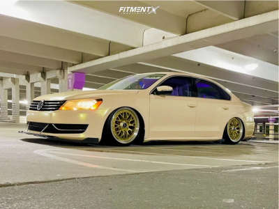 2013 Volkswagen Passat - 19x8.5 45mm - Rotiform Lsr - Air Suspension - 235/35R19