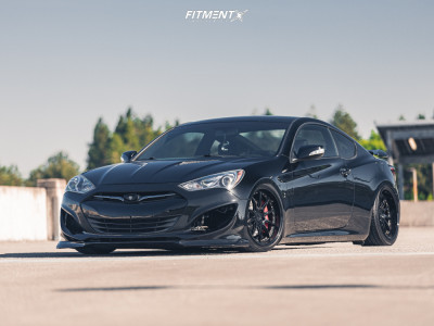 2014 Hyundai Genesis Coupe - 19x9 22mm - Aodhan Ds07 - Air Suspension - 245/35R19