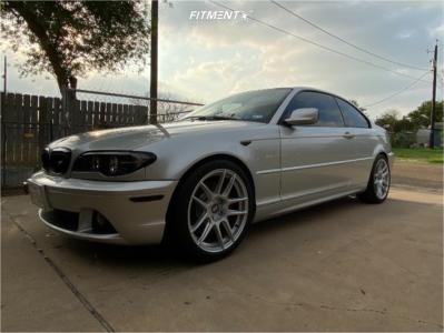 2004 BMW 330Ci - 18x8.5 30mm - ESR Cs8 - Stock Suspension - 255/35R18
