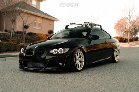 2009 BMW 335i - 18x9.5 22mm - ESR Forged Rf2 - Coilovers - 225/35R18