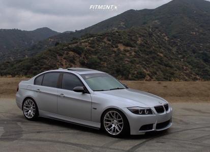 2008 BMW 3 Series - 18x9.5 35mm - ESR Sr12 - Lowering Springs - 235/40R18