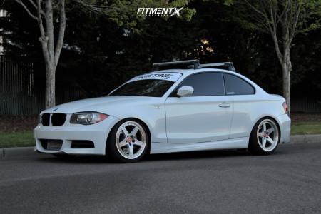 2011 BMW 135i - 18x8.5 30mm - VIP Modular FF550 - Coilovers - 215/40R18