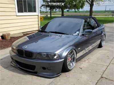 2001 BMW 325Ci - 18x9.5 20mm - Weds Lxz - Air Suspension - 225/35R18