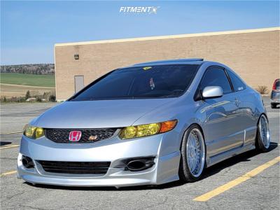 2008 Honda Civic - 17x9 3mm - Work Rezax - Coilovers - 205/40R17