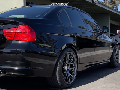 2011 BMW 335d - 18x9.5 35mm - Aodhan Ah-x - Stock Suspension - 265/35R18