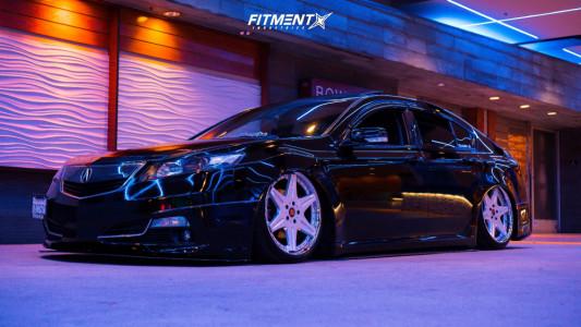 2013 Acura TL - 20x8.5 29mm - Work Ls406 - Air Suspension - 225/35R20