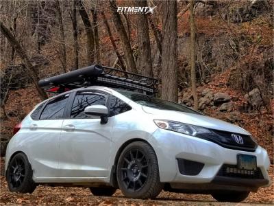 2015 Honda Fit - 16x7.5 42mm - Sparco Terra - Stock Suspension - 205/50R16