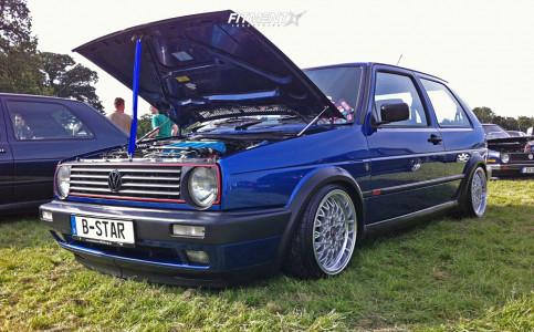 1991 Volkswagen Golf - 16x8 35mm - B-Star Wheels RA-1680 - Coilovers - 195/40R16