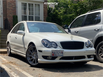 2006 Mercedes-Benz C230 - 18x8.5 33mm - F1R F29 - Stock Suspension - 225/40R18