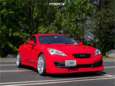 2012 Hyundai Genesis Coupe - 19x9.5 15mm - Aodhan Ds02 - Stock Suspension - 235/35R19
