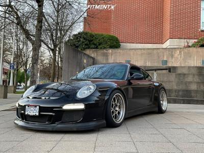 2010 Porsche 911 - 18x10.5 31mm - Fikse Profile 701 - Coilovers - 275/35R18