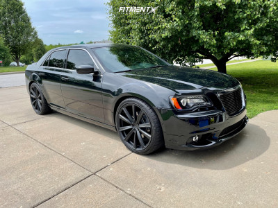 2014 Chrysler 300 - 22x9 39mm - Milanni Splinter - Lowering Springs - 265/35R22