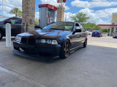 1996 BMW 328i - 17x9 35mm - Kansei Knp - Coilovers - 215/40R17