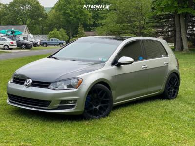 2015 Volkswagen Golf - 18x9.5 35mm - Alzor 040 - Coilovers - 245/45R18