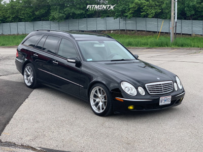 2006 Mercedes-Benz E500 - 18x9.5 33mm - Aodhan Aff7 - Stock Suspension - 245/40R18