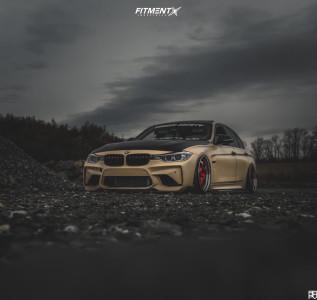 2013 BMW 335i xDrive - 19x9.5 22mm - ESR Sr06 - Air Suspension - 225/35R19