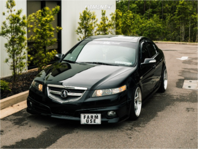 2008 Acura TL - 18x9.5 15mm - Aodhan Ds05 - Coilovers - 225/40R18