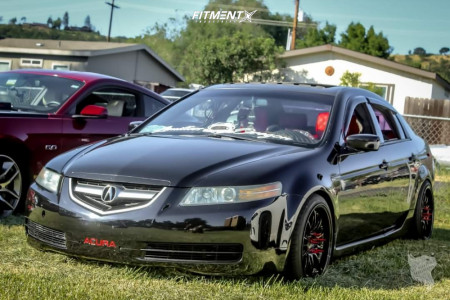 2004 Acura TL - 18x8.5 35mm - Aodhan Ds07 - Coilovers - 245/35R18
