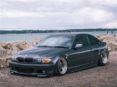2005 BMW 3 Series - 17x9.5 13mm - OZ Racing Futura - Air Suspension - 205/40R17