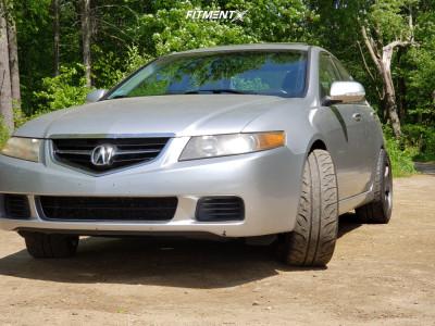 2005 Acura TSX - 18x9.5 22mm - Gram Lights 57dr - Stock Suspension - 255/40R18