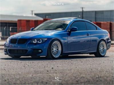 2011 BMW 335i xDrive - 18x9.5 35mm - Aodhan Ah02 - Coilovers - 235/40R18
