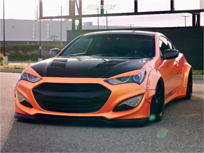 2015 Hyundai Genesis Coupe - 19x11 22mm - Aodhan Ds07 - Air Suspension - 245/40R19