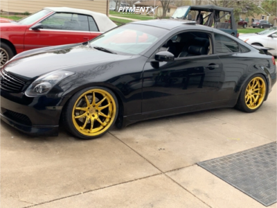 2005 Infiniti G35 - 19x9.5 22mm - Aodhan Ds02 - Coilovers - 235/35R19
