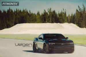 2014 Chevrolet Camaro - 20x9 35mm - Velgen VMB8 - Lowered on Springs - 275/35R20