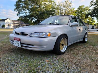 1999 Toyota Corolla - 15x8 25mm - Enkei 92 - Coilovers - 195/55R15