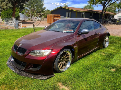 2010 BMW 335i - 18x9.5 15mm - Aodhan Ds02 - Coilovers - 245/30R18