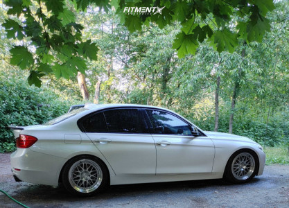 2015 BMW 335i - 18x8.5 35mm - Aodhan Ah02 - Coilovers - 255/40R18
