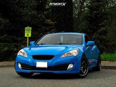 2012 Hyundai Genesis Coupe - 19x9.5 22mm - Varrstoen Es2 - Lowering Springs - 245/30R19