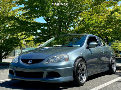 2006 Acura RSX - 17x9 22mm - Rays Engineering Te37 - Coilovers - 245/40R17