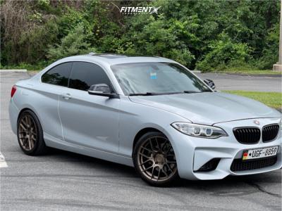 2014 BMW 228i - 18x8.5 35mm - Aodhan Ah-x - Stock Suspension - 245/40R18