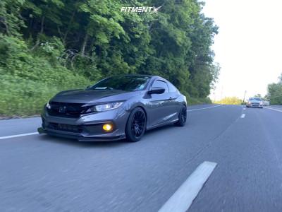 2020 Honda Civic - 18x9.5 38mm - AVID1 Av20 - Coilovers - 235/40R18