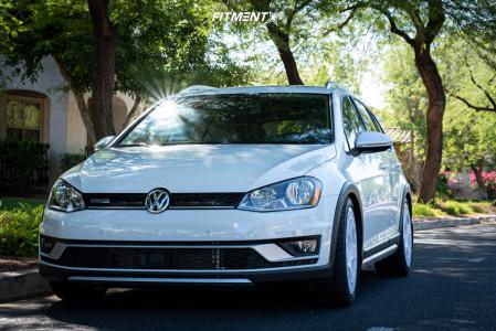 2017 Volkswagen Golf Alltrack - 18x8.5 45mm - Fifteen52 Turbomac - Coilovers - 245/40R18