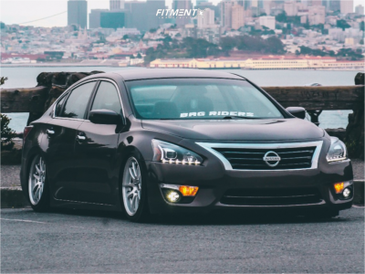 2015 Nissan Altima - 18x8.5 35mm - Aodhan Ds02 - Air Suspension - 225/40R18