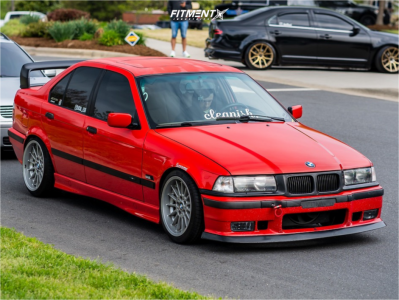 1996 BMW 328i - 17x8 20mm - BBS Style 32 - Coilovers - 215/40R17