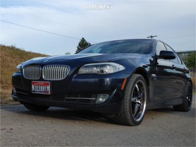 2011 BMW 550i xDrive - 19x8.5 20mm - MRR Gt5 - Stock Suspension - 245/40R19