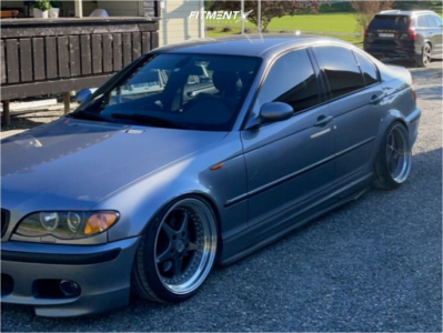 2004 BMW 3 Series - 18x9 15mm - OZ Racing Mito - Coilovers - 215/35R18