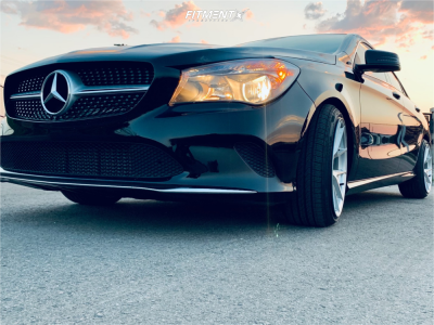 2018 Mercedes-Benz CLA250 - 18x9.5 35mm - Aodhan Aff7 - Stock Suspension - 225/40R18