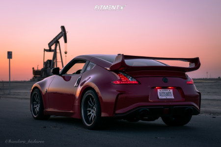 2015 Nissan 370Z - 19x9.5 22mm - Aodhan Ds02 - Stock Suspension - 265/30R19