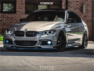 2013 BMW 328i xDrive - 19x8.5 35mm - Dai Alloy AKUMA - Coilovers - 245/35R19