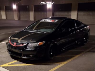 2012 Honda Civic - 17x8 35mm - Enkei Ts10 - Coilovers - 235/35R17